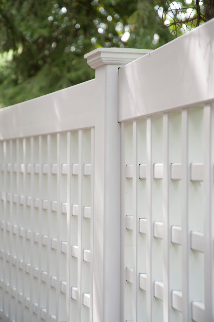 illusions vinyl pvc lattice fence panels 1