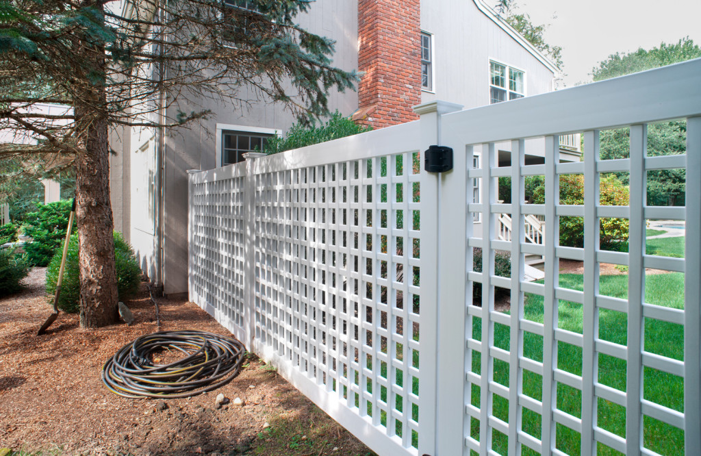 illusions vinyl pvc lattice fence panels 3