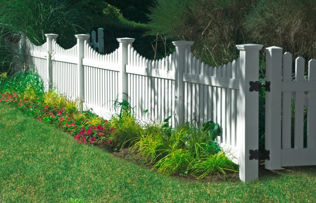 illusions vinyl pvc white picket fence panels