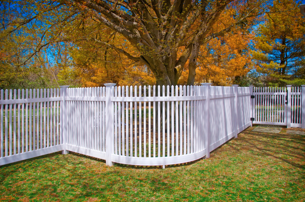 illusions vinyl pvc white picket fence panels curved