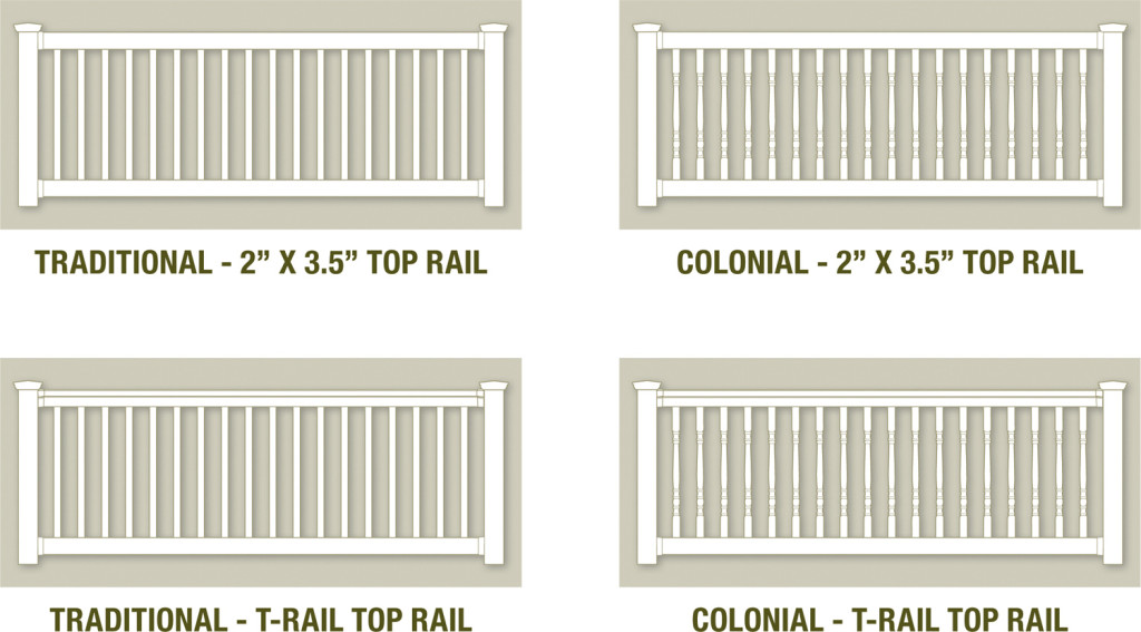 illusions vinyl railing system pvc vinyl styles
