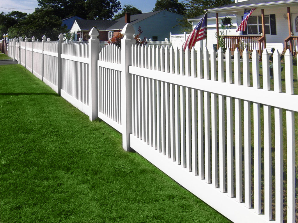 illusions white picket vinyl pvc fence