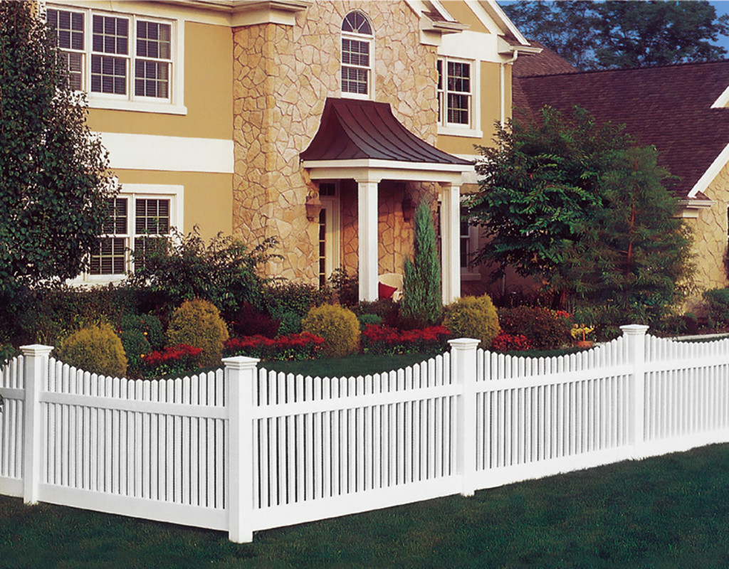 illusions white vinyl pvc picket fence panels