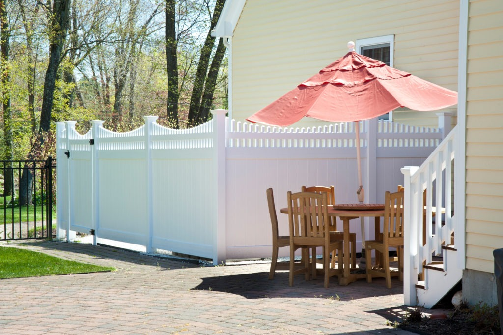 illusions white vinyl pvc privacy fence panels