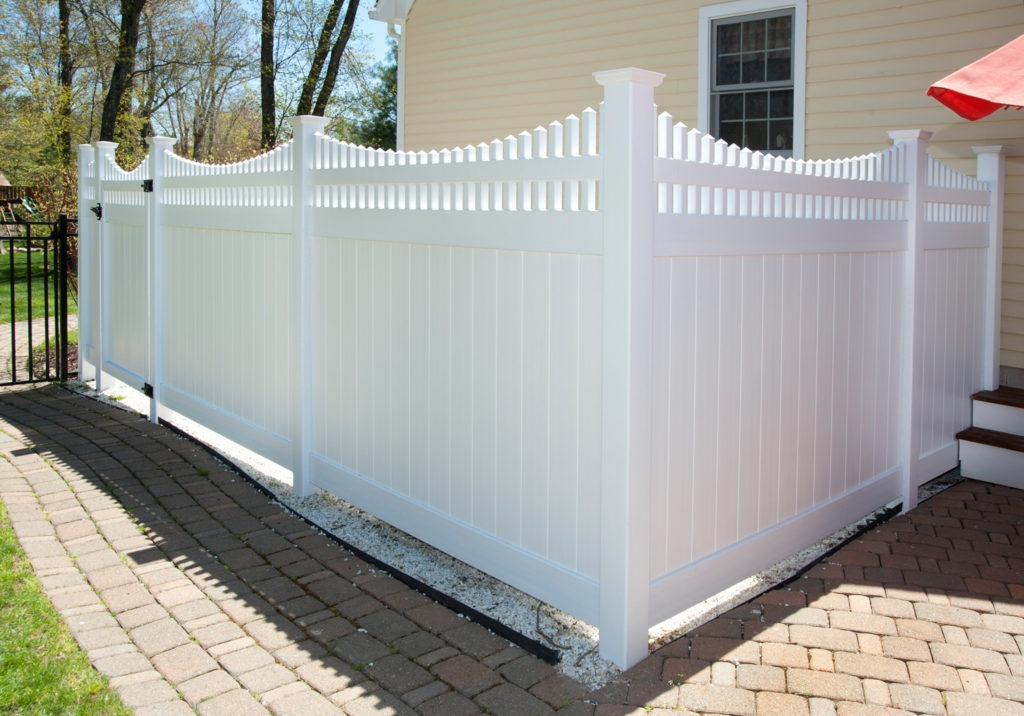 illusions white vinyl pvc privacy fence panels 2