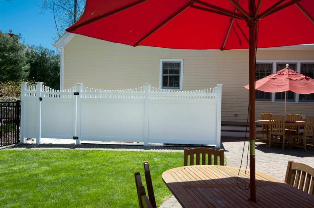 illusions white vinyl pvc privacy fence panels 3