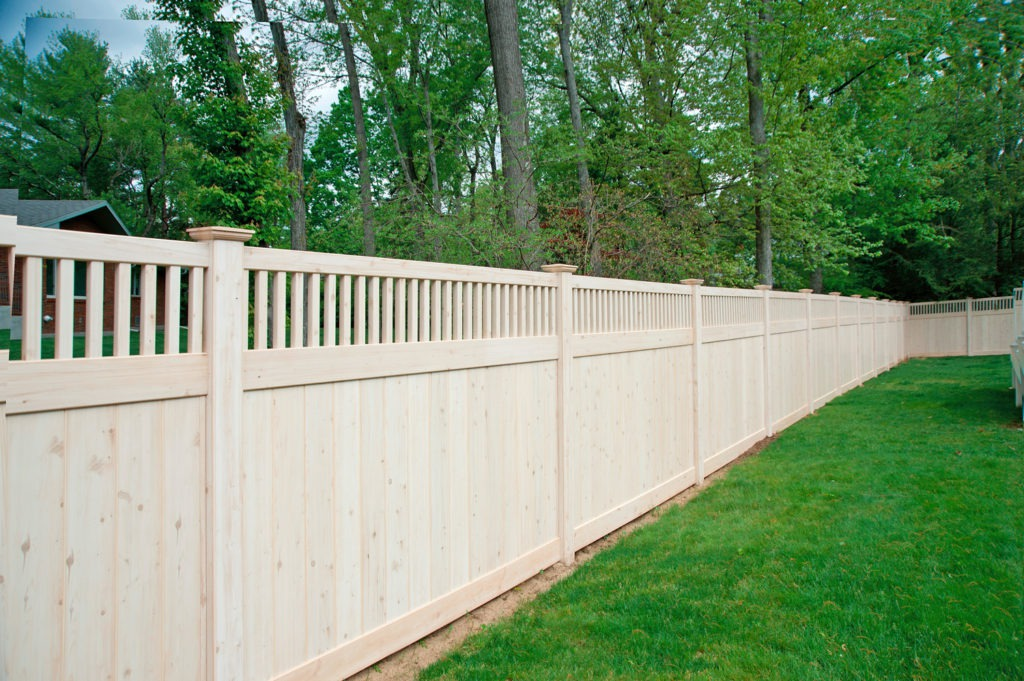 illusions wood grain pvc vinyl privacy fence panels