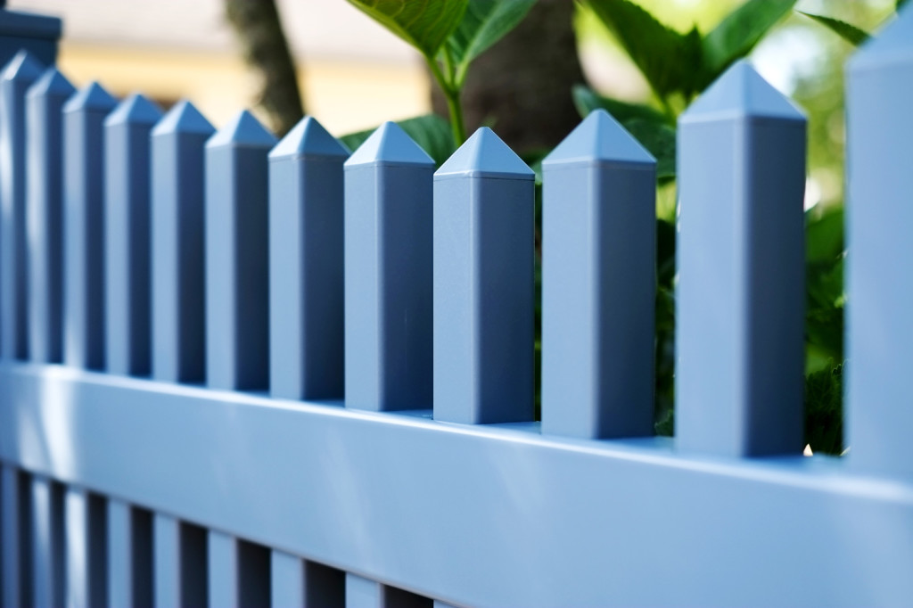 light blue pvc vinyl picket fence illusions 3