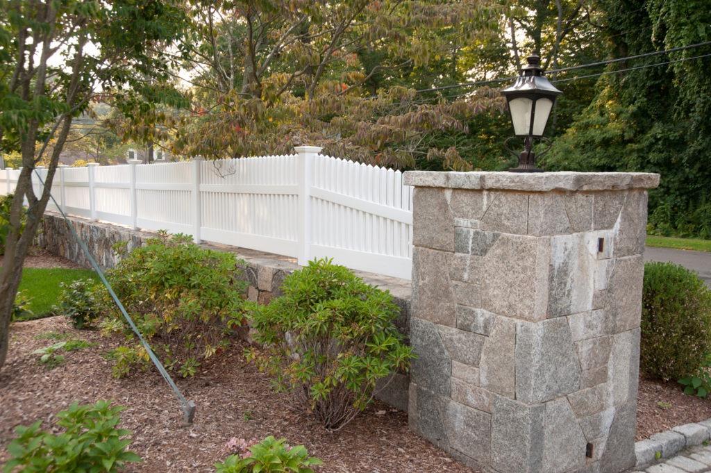 matte finish vinyl pvc patio white picket fence illusion 1