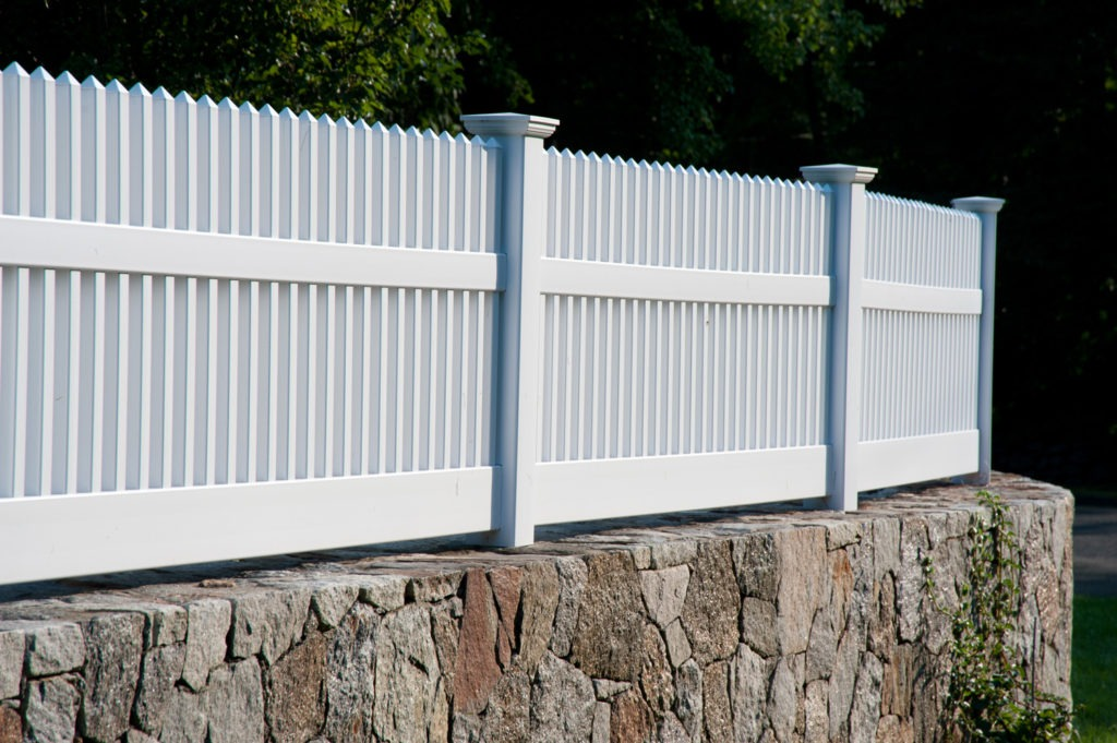 matte finish vinyl pvc patio white picket fence illusion 2