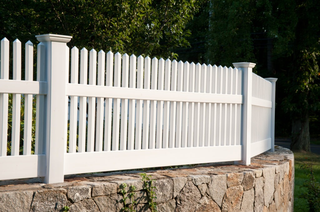 matte finish vinyl pvc patio white picket fence illusion 3