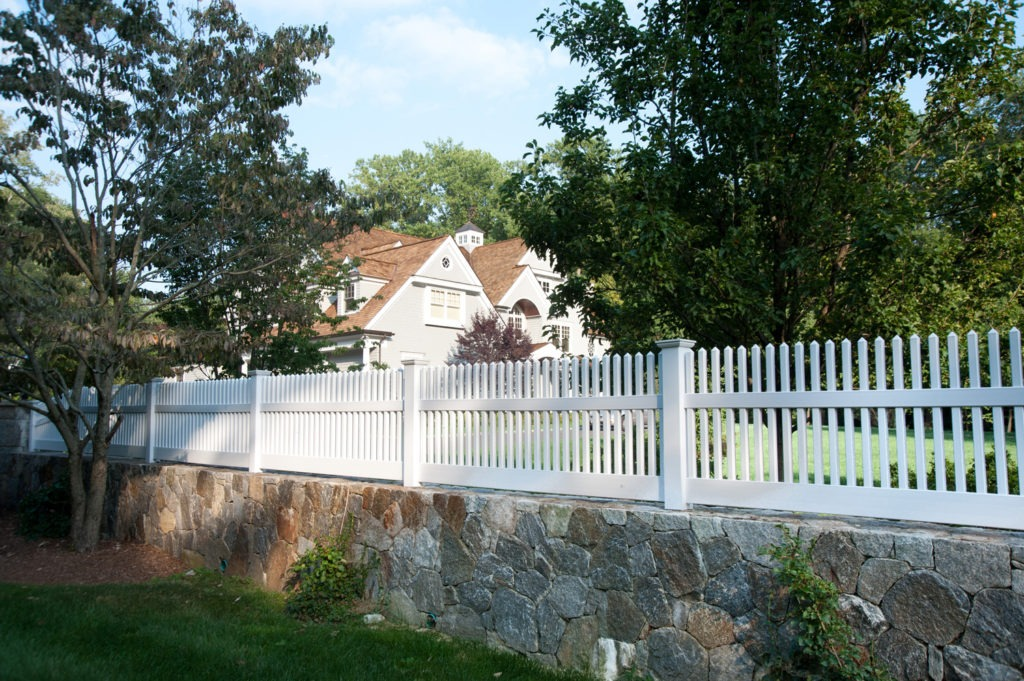 matte finish vinyl pvc patio white picket fence illusion 4
