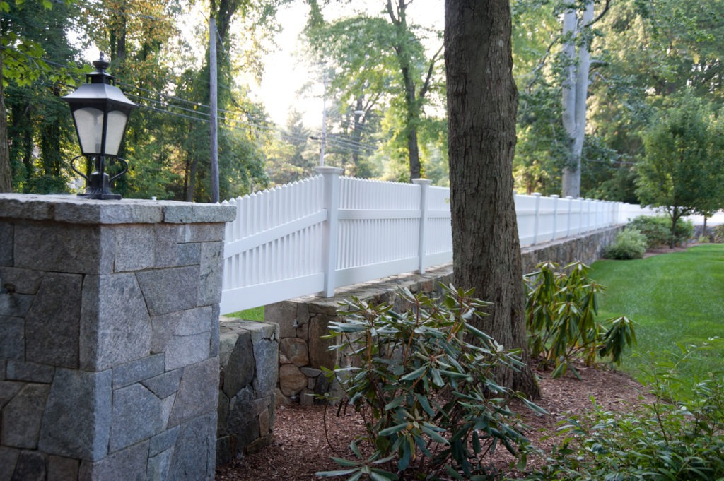 matte finish vinyl pvc patio white picket fence illusion 5