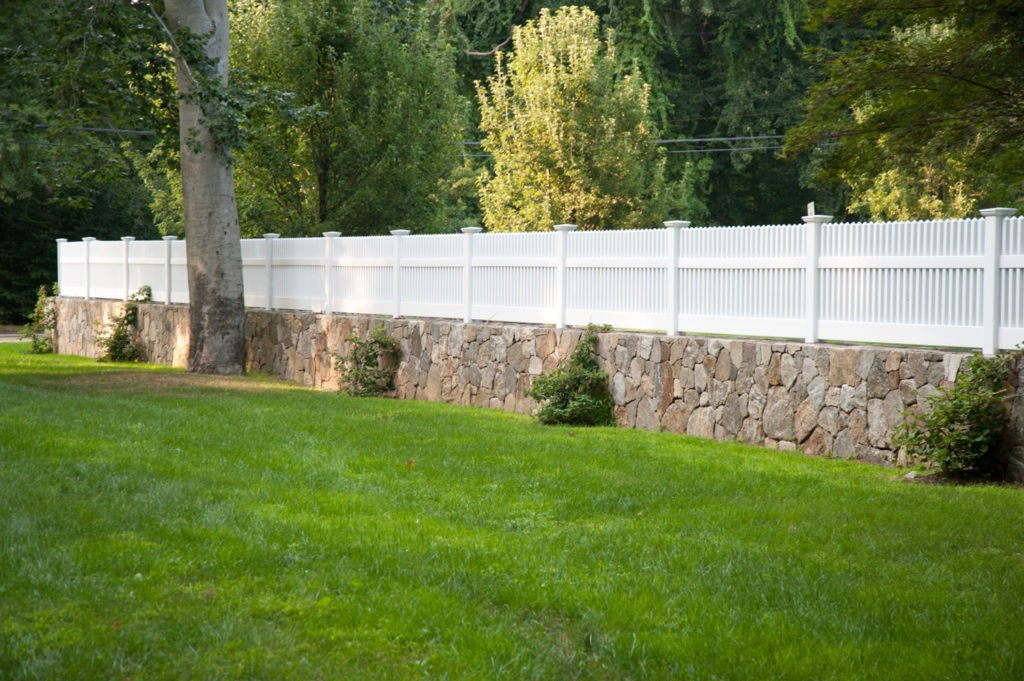 matte finish vinyl pvc patio white picket fence illusion 7