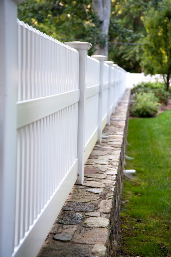 matte finish vinyl pvc patio white picket fence illusion 8