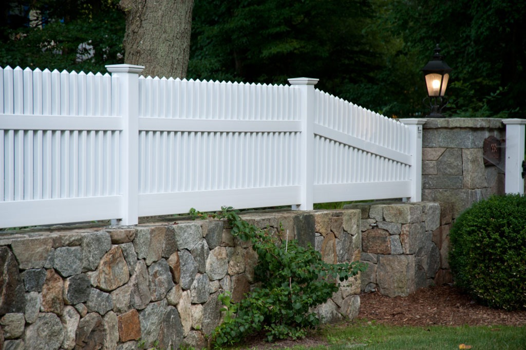 matte finish vinyl pvc patio white picket fence illusion 9