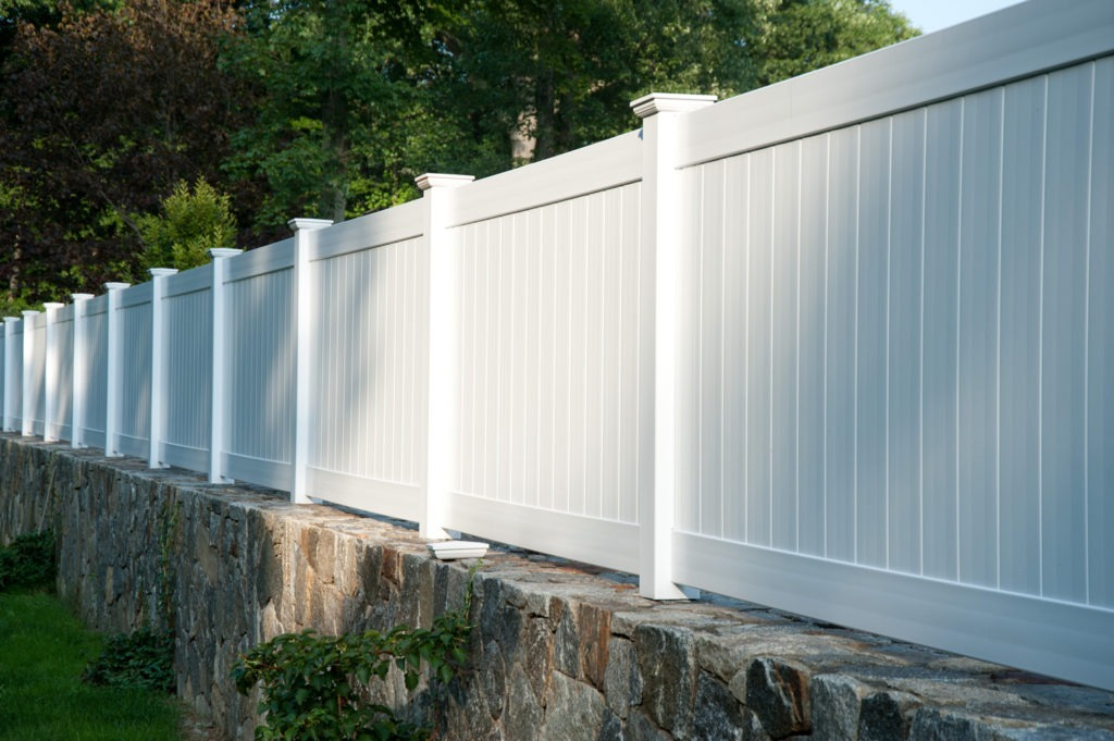 matte finish vinyl pvc patio white privacy fence illusion 1