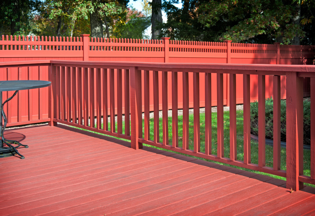 red pvc vinyl privacy fence panels from illusions 2