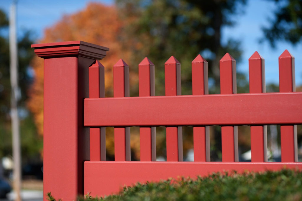 red pvc vinyl privacy fence panels from illusions 5