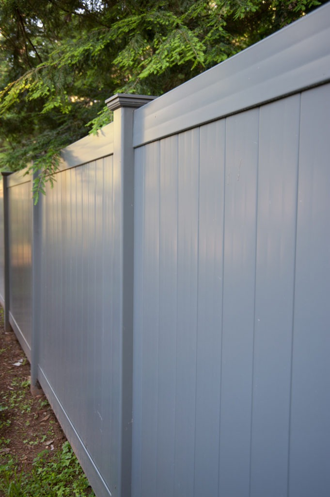 slate gray pvc vinyl privacy fence panels 1