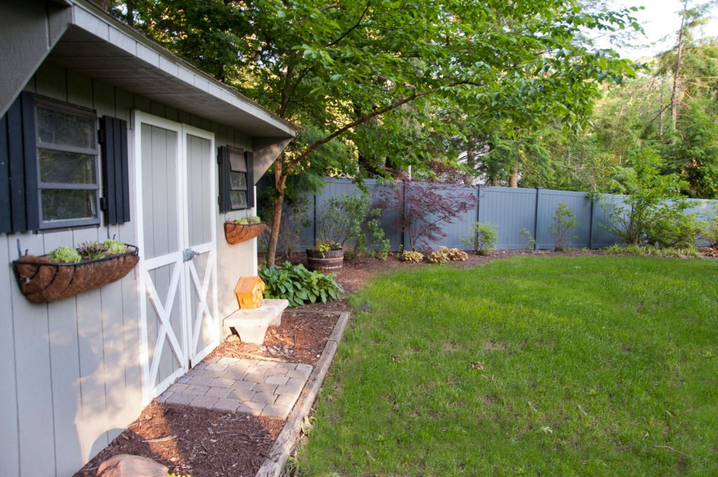 slate gray pvc vinyl privacy fence panels 5