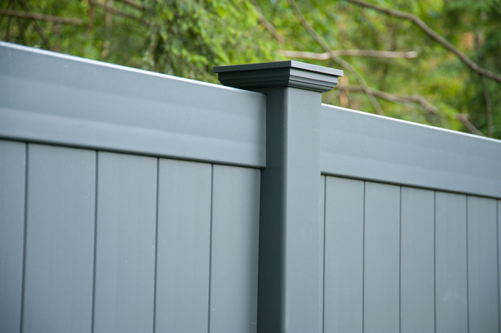 slate gray pvc vinyl privacy fence panels 6