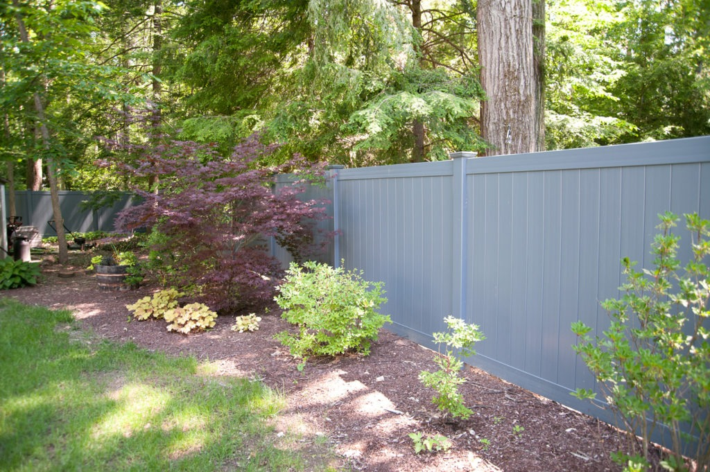 slate gray pvc vinyl privacy fence panels 8
