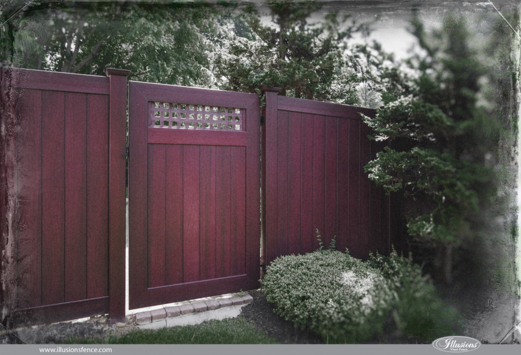 vintage grand illusions new mahogany vinyl fence