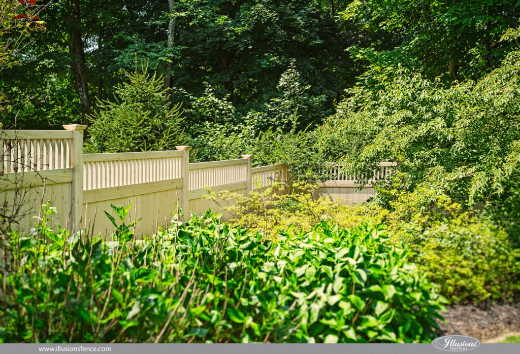 vinyl wood fence white cedar pvc panels