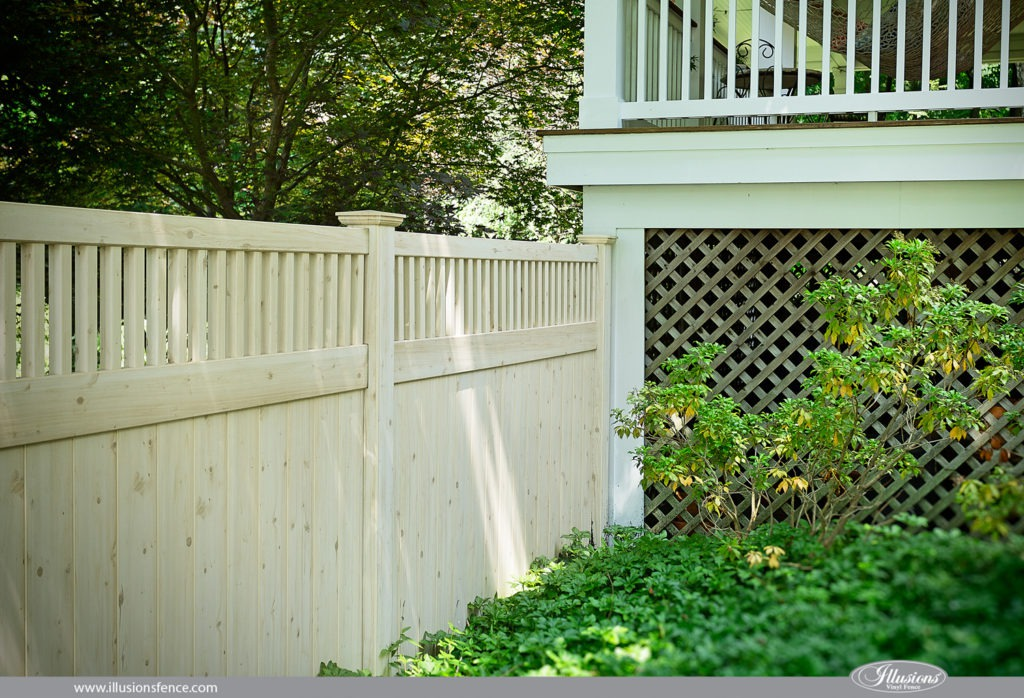 vinyl wood fence white cedar pvc panels 3