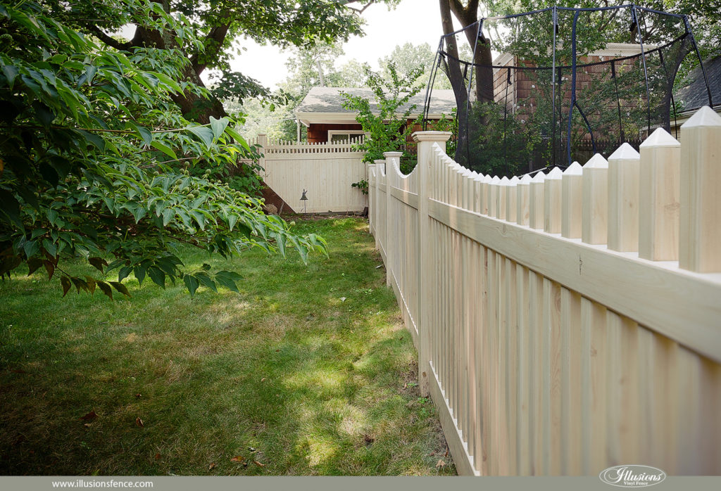vinyl wood picket fence pvc panels