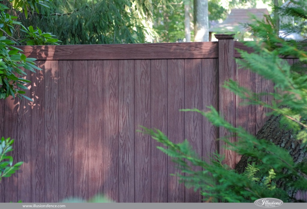 walnut vinyl pvc fence panels