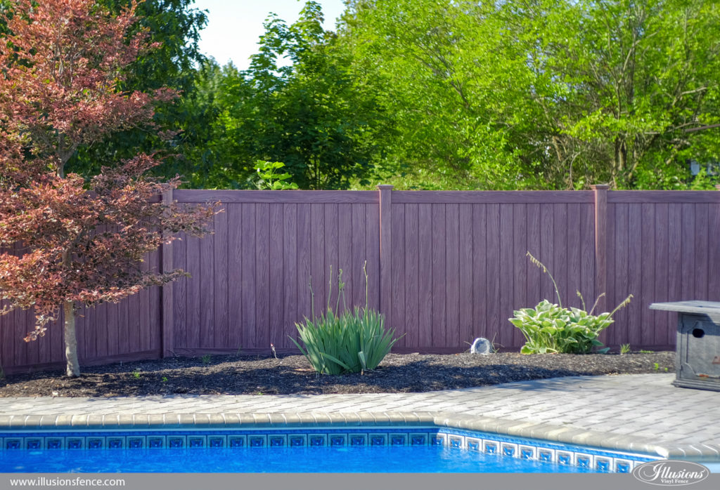 wood grain pvc vinyl privacy fencing illusions copy