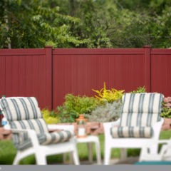 burgundy pvc vinyl privacy fence from illusions vinyl fence