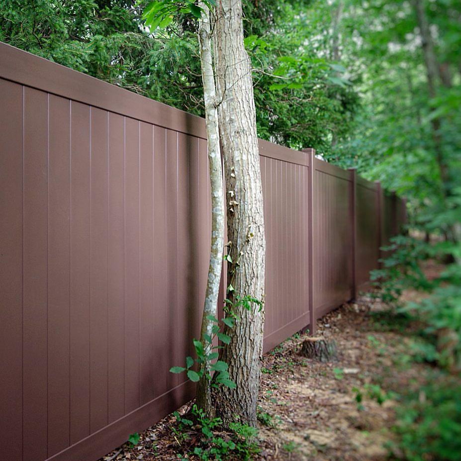 illusions brown pvc vinyl fence