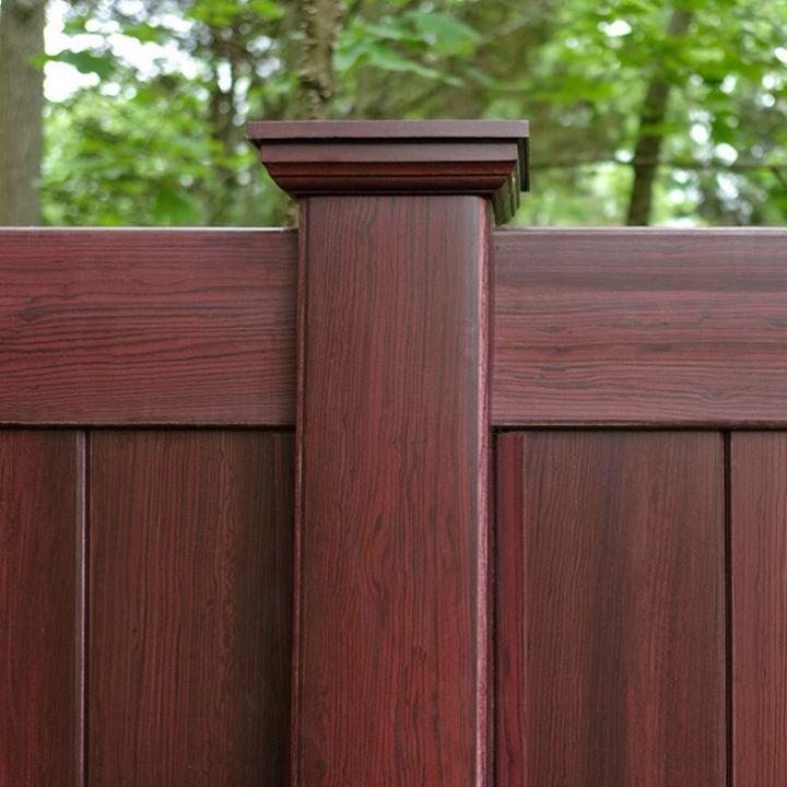 illusions-coolest fence-mahogany pvc vinyl