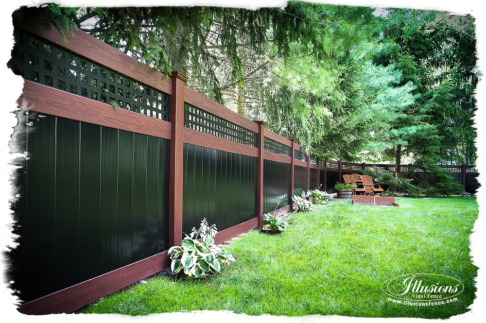rosewood and black pvc vinyl privacy fence_0001-AS