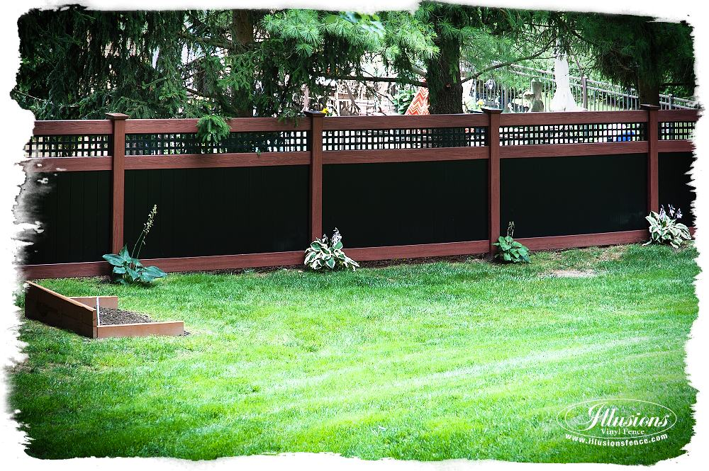 rosewood and black pvc vinyl privacy fence_0002-AS