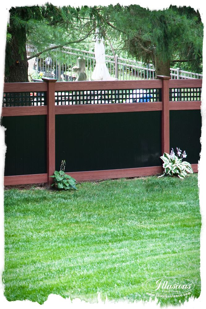 rosewood and black pvc vinyl privacy fence_0002_2x3-AS