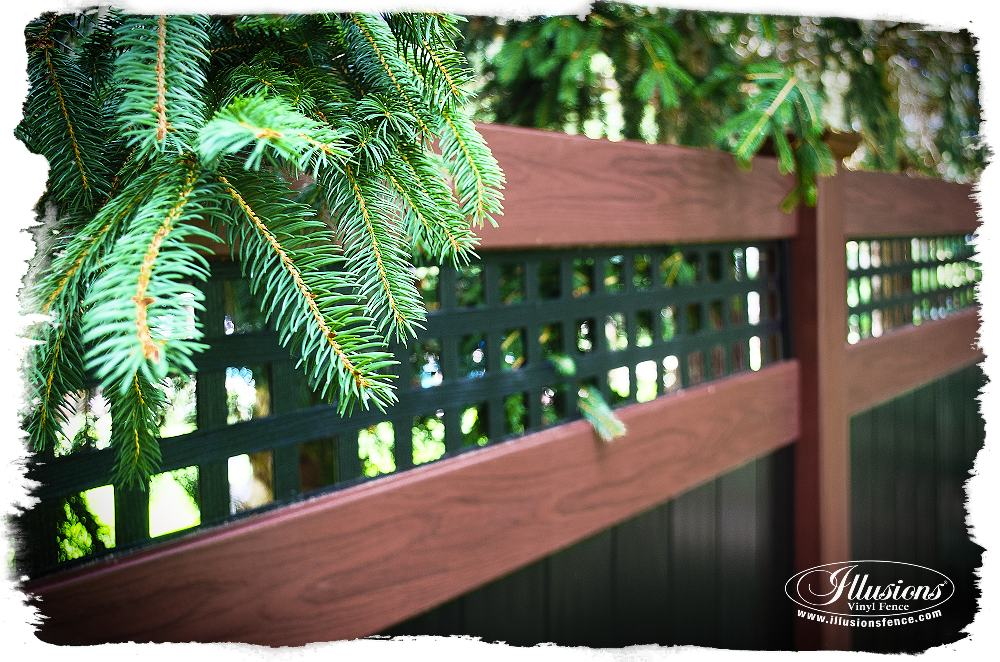 rosewood and black pvc vinyl privacy fence_0007-AS