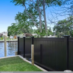 Black PVC Vinyl Privacy Fencing Panels from Illusions Vinyl Fence are the Perfect Backyard Fence Idea for Your Outdoor Living Space. #fenceideas #homeideas #fence #vinylfence