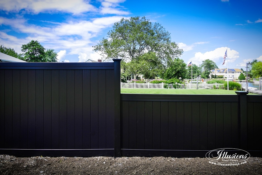 black vinyl fence panels. Perfect Panels Black PVC Vinyl Privacy Fencing Panels From Illusions Fence Are The  Perfect Backyard Idea For I
