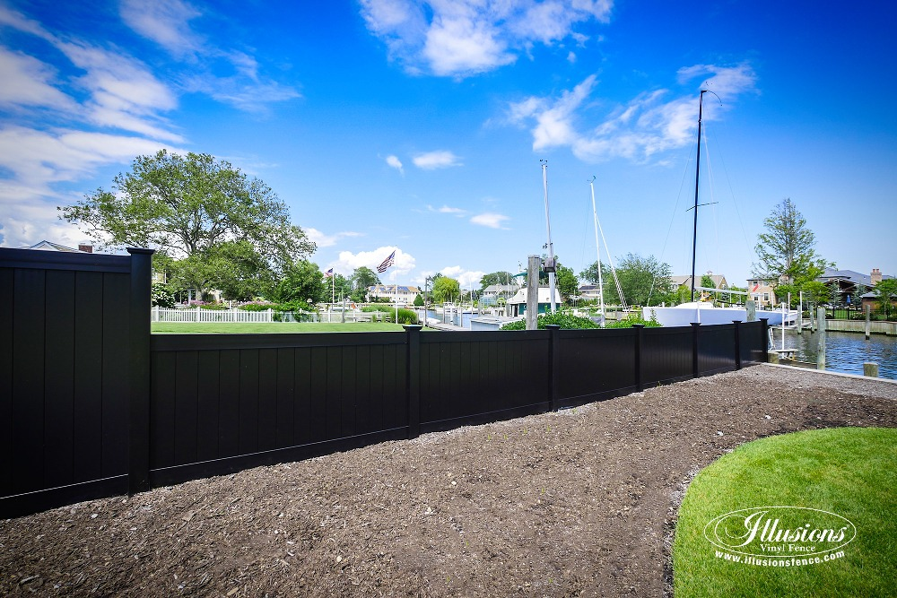 Black Pvc Vinyl Privacy Fencing Panels Illusions Vinyl Fence