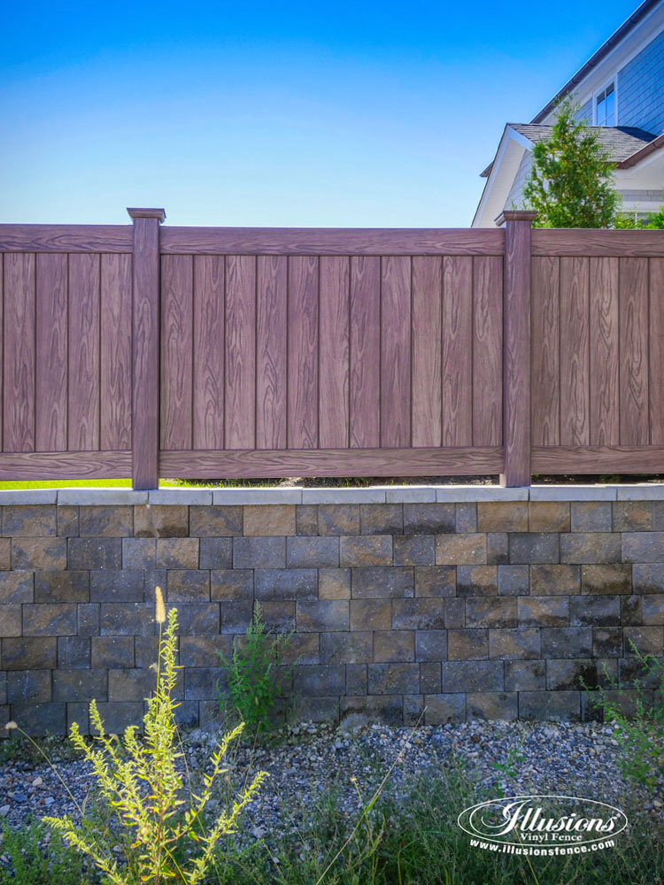 Gorgeous Illusions Walnut Pvc Vinyl Fence Illusions