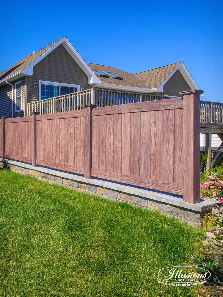 Vinyl Fence Panels gorgeous illusions walnut pvc vinyl fence - illusions vinyl fence