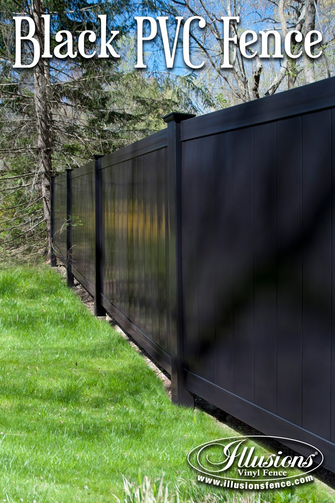 Fence Ideas That Add Curb Appeal. Black PVC Privacy Fence Panels Add Curb Appeal To Your Fencing Panels. It's a Great Good Neighbor Fence Idea. #fenceideas #fence #homedecor #backyardideas