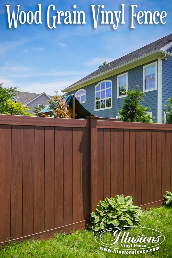 fence designs for homes. Fence Ideas That Add Curb Appeal  Rosewood PVC Vinyl Wood Grain Privacy Panels From 17 To Your Home Illusions