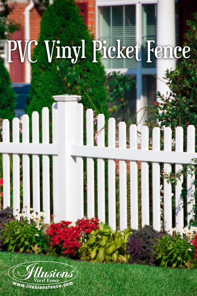 Fence Ideas That Add Curb Appeal. White PVC Illusions Vinyl Fence Is The Best Brand You Can Buy For Your American Dream Home. #dreamhome