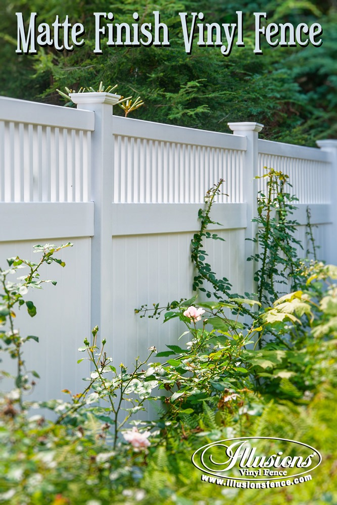 new fence ideas matte finish pvc white vinyl fence by illusions vinyl fence looks like