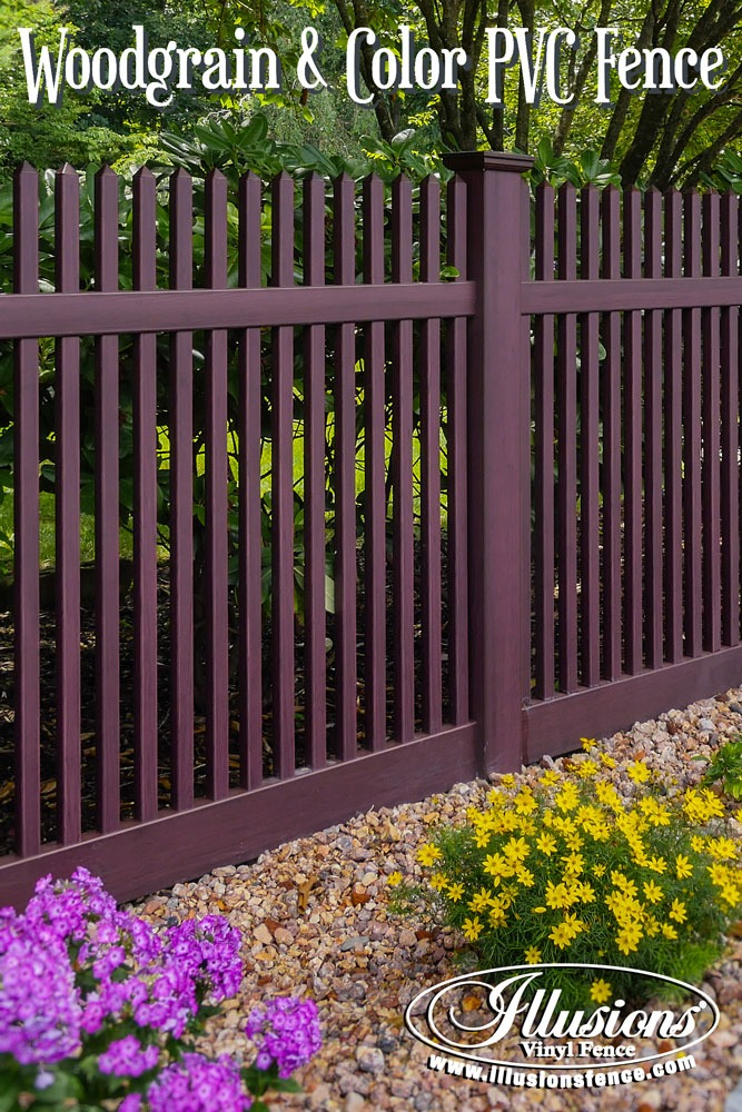 New Fence Ideas. Gorgeous PVC Vinyl Grand Illusions Vinyl WoodBond Fencing Panels From Illusions Look Like Stained Wood Fence Without The Maintenance. #landscapingideas